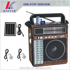 2017 Portable solar powered mp3 player with radio
