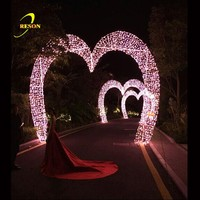 Waterproof LED Arch Loving Heart Shaped For Holiday/Wedding/Christmas Decoration