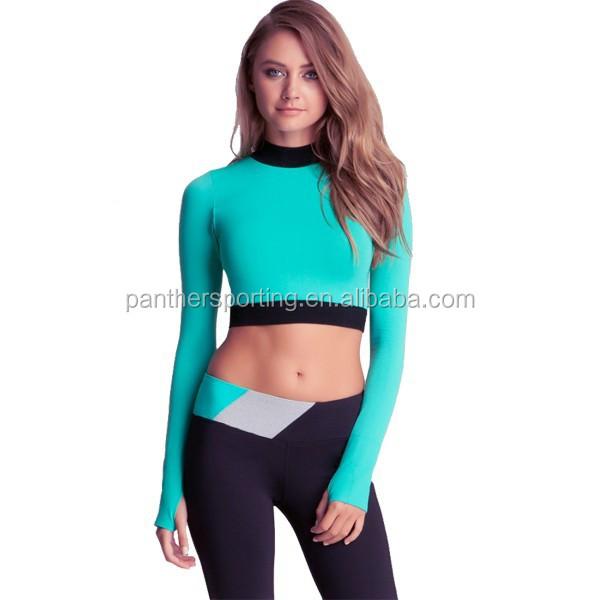 Womens Fitness Wear Yoga Pants,Ladies Crop Top Plain - Buy Ladies ...