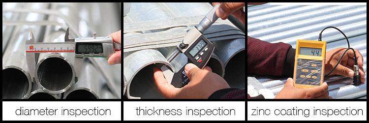 galvanized round pipe inspection