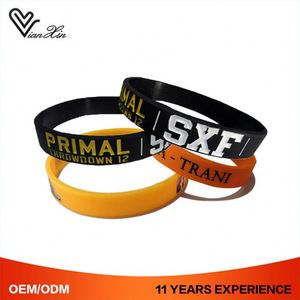 Cancer Emotion Free Christian Silicone Custom Cheap Charm Bracelets