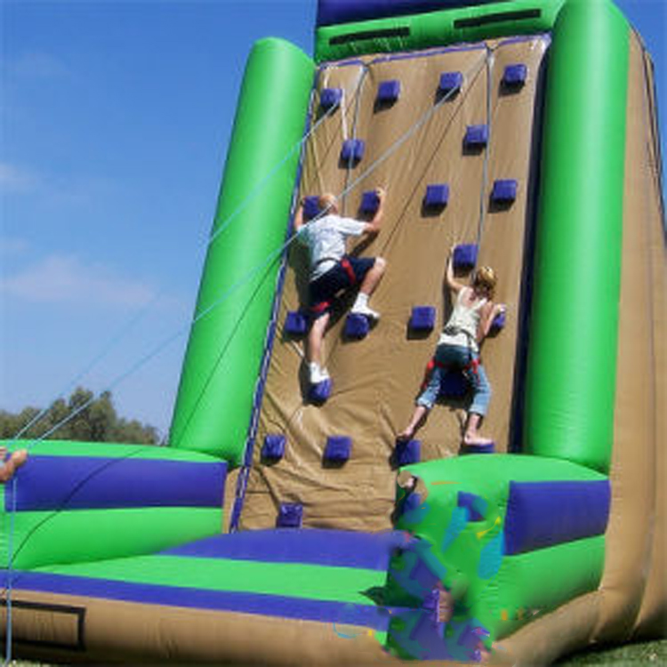 inflatable climbing wall with slide for sale