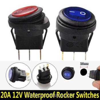 12v 20a Led Light On/off Rocker Switch Car Auto Boat Spst Marine Waterproof  - Buy Round Rocker Switch,Kcd1 Rocker Switch,Kcd2 Rocker Switch Product on