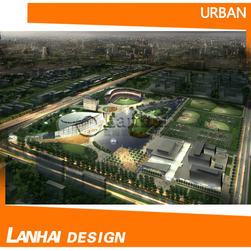 Aerial View Master Design 3dmax Architectural Rendering