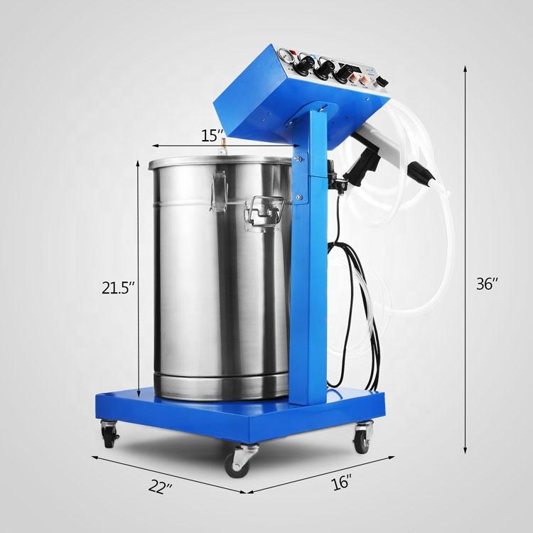 Powder Coating Machine 50W 45L Capacity Electrostatic Powder Coating System Spraying Gun
