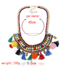 Fashion Cluster Necklace Bib Choker Chunky Statement Necklace With Stones