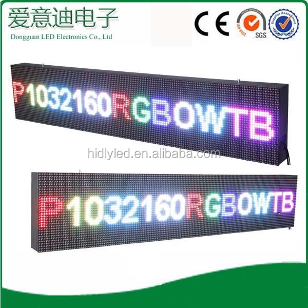 length moving messages parking system led price display screen