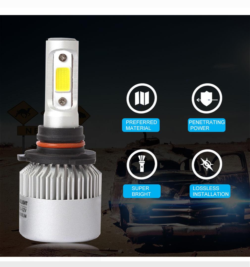 De aluminio de alta potencia de faro s2 luz del coche de 360 grados h4 12v led Bombilla de luz del faro