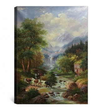 Wholesale beautiful acrylic scenery landscape oil painting on canvas
