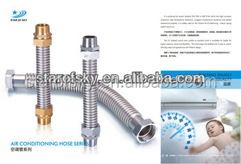 SS air conditional corrugate tube/metallic bellows pipe