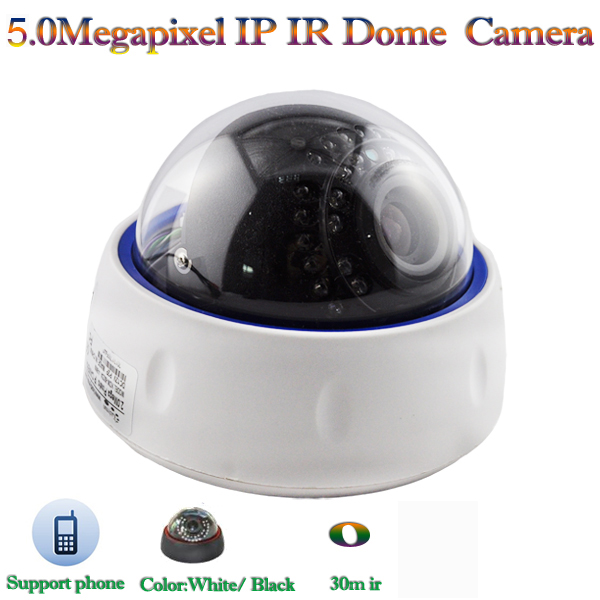 20M IR Dome CMOS HD 1080P 5MP Security Indoor IP Camera with P2P, ONVIF, Low Lux, 2.8-12mm Varifocal Lens
