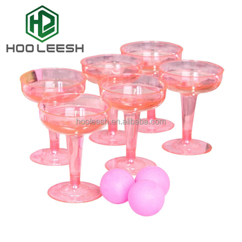 Party disposable Hard Plastic 4 Ounce Clear Champagne Glasses