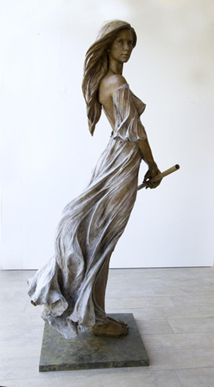 Factory Custom Life Size Bronze Nude Naked Man Thinking