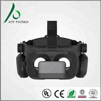 Upgraded Virtual Reality Headset VR Glasses with Remote Controller for 3D Movies and VR Games - More Lighter VR Headset