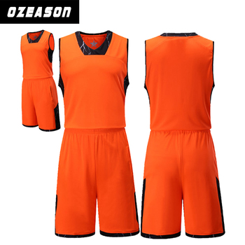 Reversible Color 2016 Dri Orange - Basketball Buy 2016 Latest Orange Design dry Jersey Fit For Team Jersey