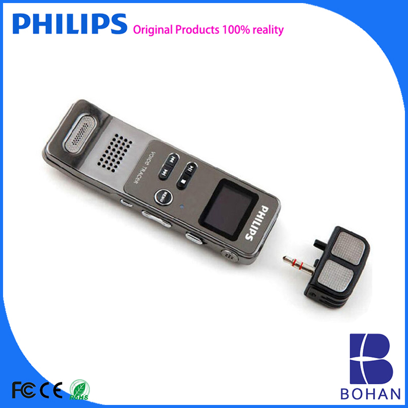 PHILIPS 2016 4GB 8GB PCM Stereo Recording with Double Speakers MP3 WAV Mini Tape Recorder