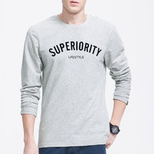 Classic long sleeve simple printing customised t shirt