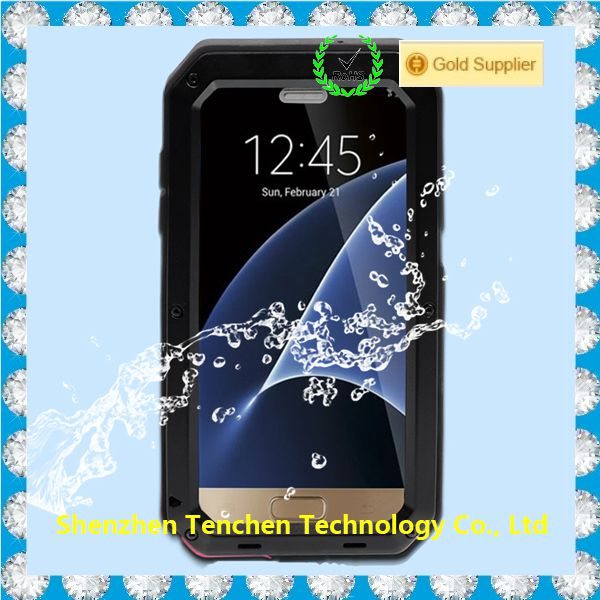 ALL round protective mobile cases with kickstand, for Samsung S7 shockproof waterproof phone cases