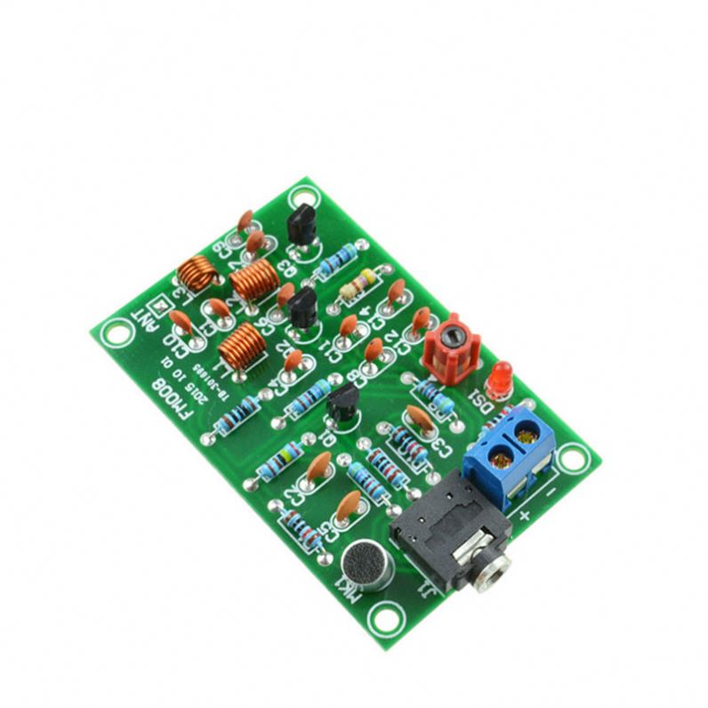 76-110MHz FM Radio Transmitter Repeater MP3 Module Audio Wireless Transmitter Module 3V-12V Microphone