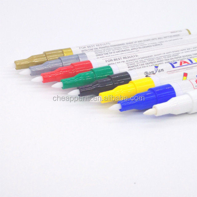 28 ink colors big size quick dry permanent paint marker for metal and wood