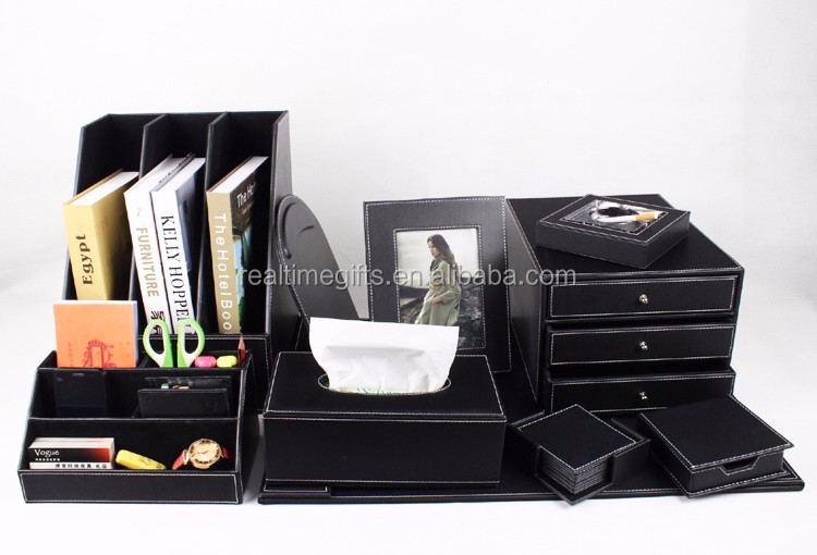 Luxe noir bureau daffaires organisateur de table 6 8 10 pièces pu