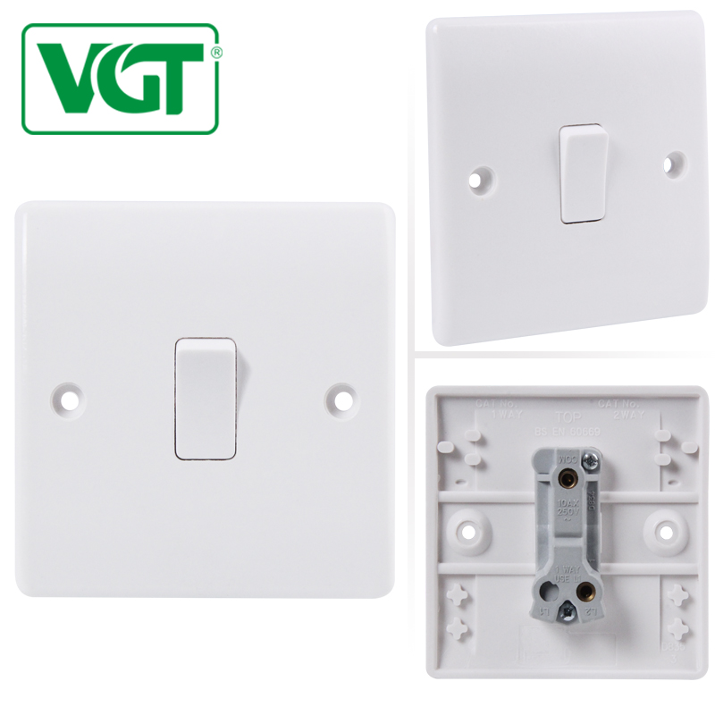 2018 Best Selling Products factory wholesale 220-250V 1 Gang 1 Way Bakelite light Electric wall light switch