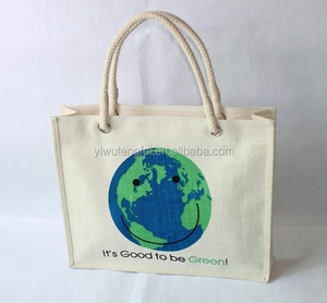 2017 Popular hot sale cheap waterproof promotional shopping tote jute bag