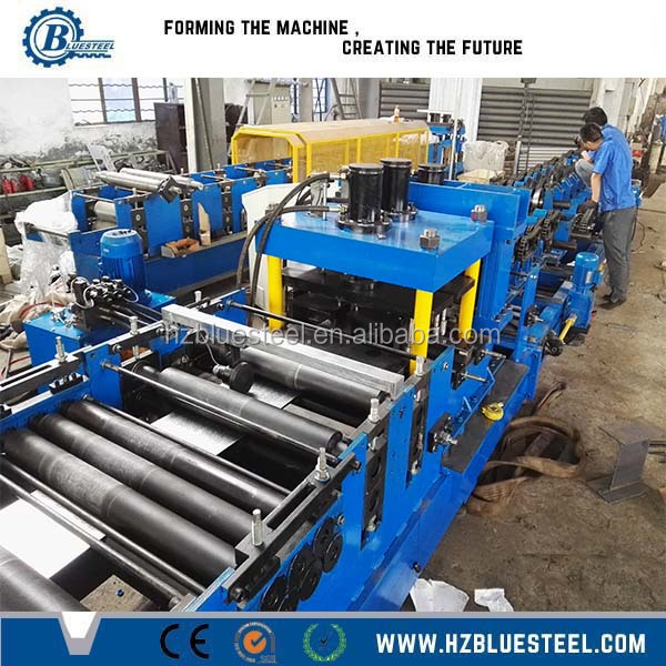Cee Zed Roof Purlin Cladding Rails Structural Sections Roll Forming Machine