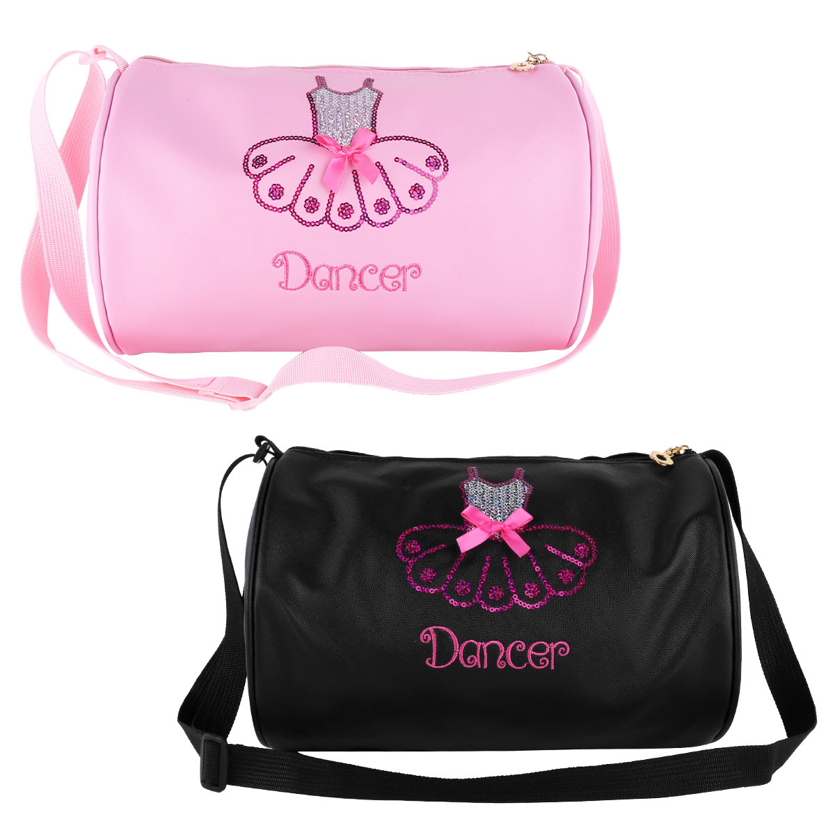 Luggage & Bags Tiaobug Kids Faux Leather Ballet Dance Bag Students School Backpack Paillettes Sequin Embroidery Shoe Girls Gym Ballet Backpack Elegant Appearance
