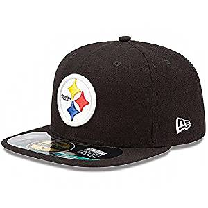 Get Quotations · Pittsburgh Steelers New Era 5950 Fitted Size 7 1 8 Hat Cap  Black 5cbc982ae
