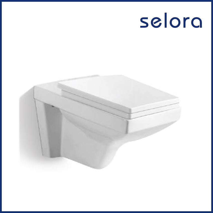 modern classic toilet square wall mounted concealed cistern toilet with slow down seat cover