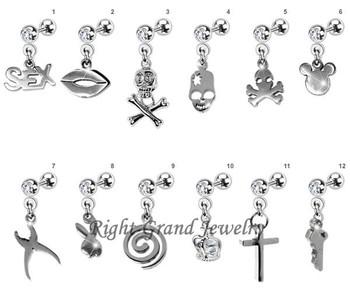 Unique Skull Dangle Tragus Piercing Jewelry Earrings Buy Tragus Piercing Jewelry Earrings Tragus Piercing Jewelry Tragus Earrings Product On