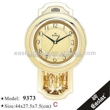 golden wall clock pendulum wall clock with music