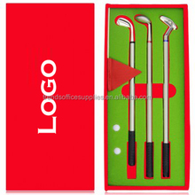 sports style golf office pen set/Golf Club Ballpoint Pen Gift Set