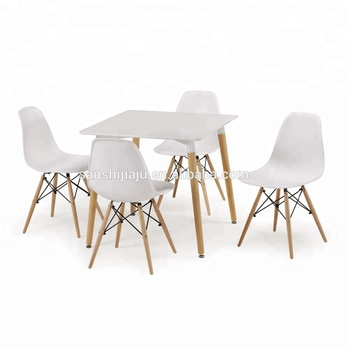 Home Dining Room Furniture 4 Person Fast Food Table And Chair Plastic Set Restaurant Tables