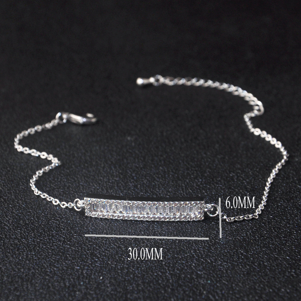 Adjustable size 925 sterling silver custom classic bracelet for women
