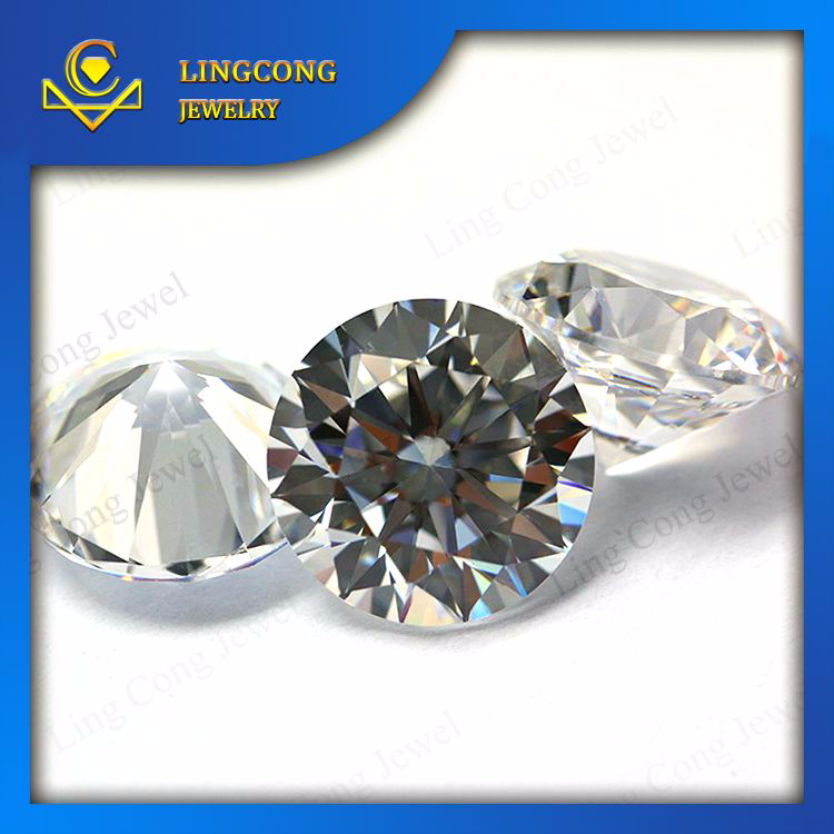 round shape brilliant semi precious star cut gems stone