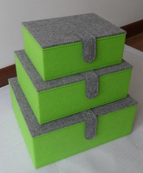 3 Set Storage Box, Felt Storage Bin