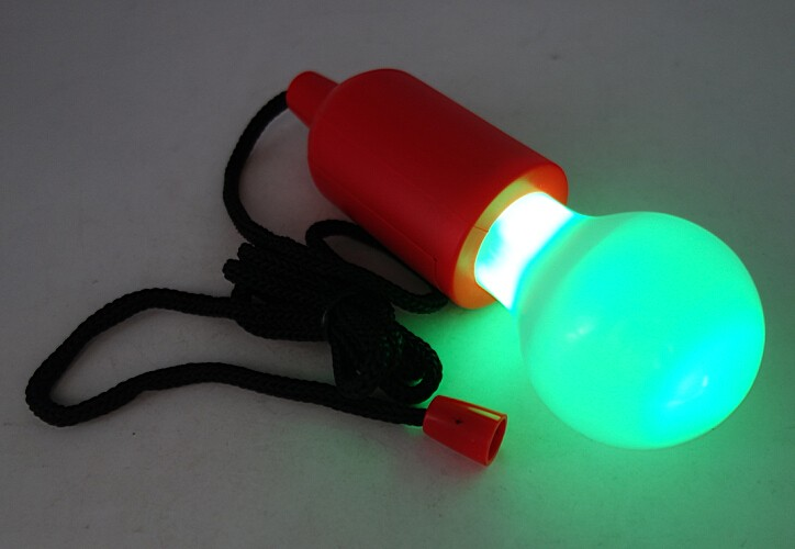 Indoor Color and White Plastic Pull Lamp