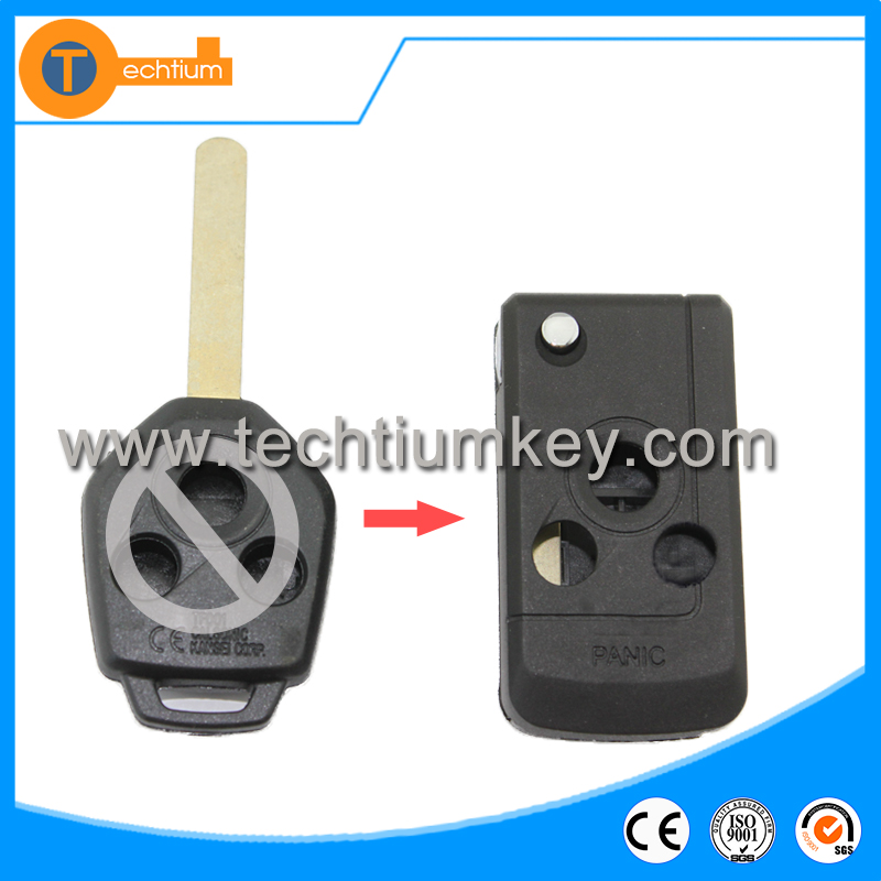 Wholesale key blanks Folding flip car key 2 button for subaru remote key shell