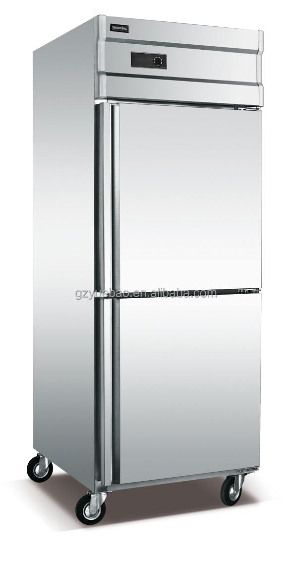 Double Door Upright Deep Freezer For Factory Price Selling