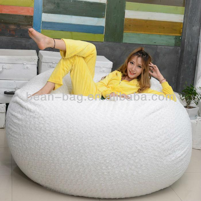 Hot Sale Round Shape Big Pillow Bean Bag Sofa Chair