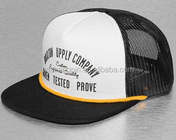 9236da50 Custom Plastic Visor String Short Bill Foam Plain Trucker Cap Mesh Hat With  String