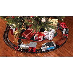 get quotations blue hat north pole junction christmas train set multiple