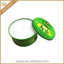 outdoor citronella oil insect repellent tin candle