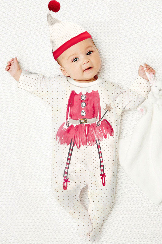 Little Witch cute baby girls baby costume romper+ free hat new year baby rompers