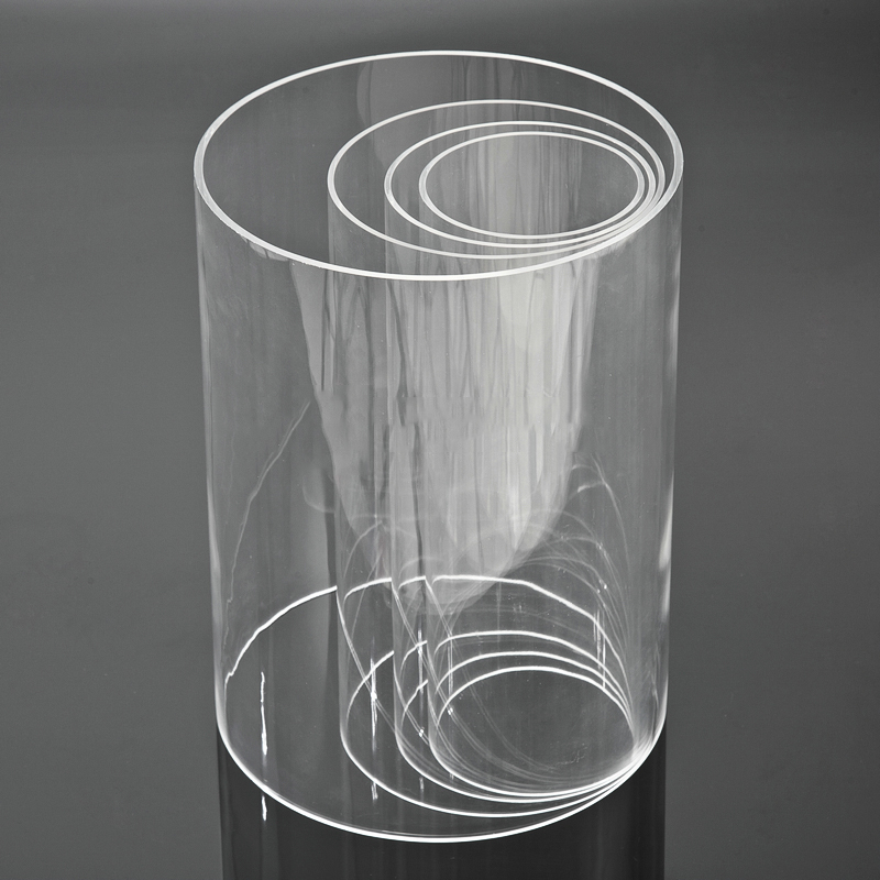factory wholesale colored  round square acrylic tubes transparent and PMMA  acrylic clear tube