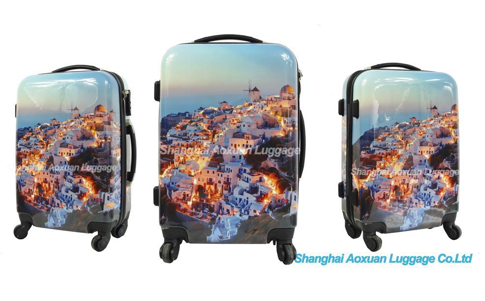 Hard Luggage 2015 Shanghai Luggage Factory New Design Abs Print ...