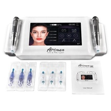 Artmex V8 7 inch glas touchscreen <span class=keywords><strong>MTS</strong></span> + PMU digitale tattoo professionele permanente make machine voor wenkbrauw
