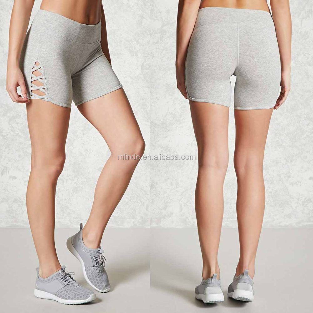 No Problem Shorts Active Cutout Basketball Shorts Wholesale Bike Yoga Shorts Women